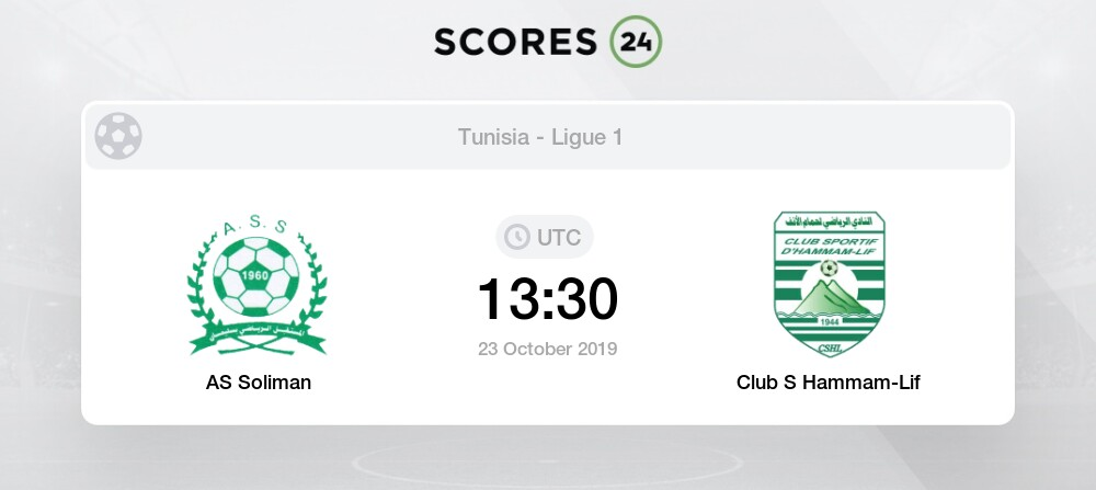 As Slimane Club S Hammam Lif 23 October 2019 Result